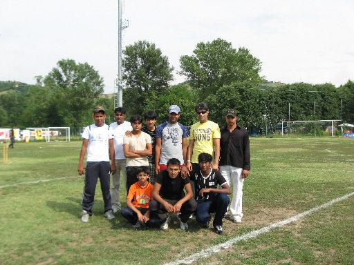 Foto squadra cricket antirazzista