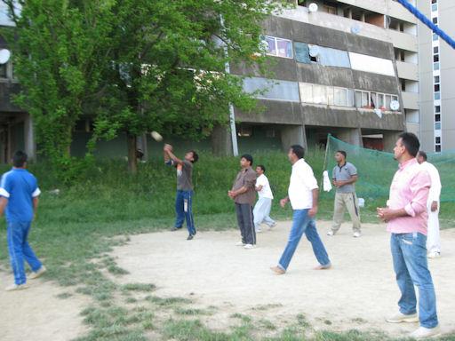 Napoli shooting volleyball