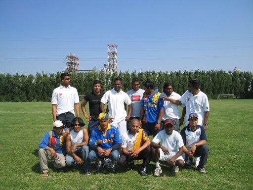Squadra dello Srilanka, vincitrice del torneo di cricket
