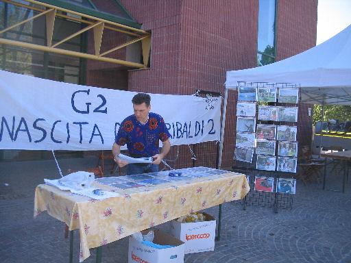 Riccardo in piazza ad Anzola