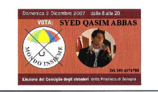 Vota SYED QASIM aBBAS